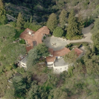 This is the only photo available of his 11 bedroom, 9 bathroom, Beverly Hills pad. Image via Google Maps.