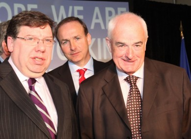 O'Keeffe (right) pictured with Brian Cowen in 2009