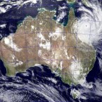 NASA image of Cyclone Yasi approaching Queensland on 2 February. (AP Photo/NASA - Jeff Schmaltz)