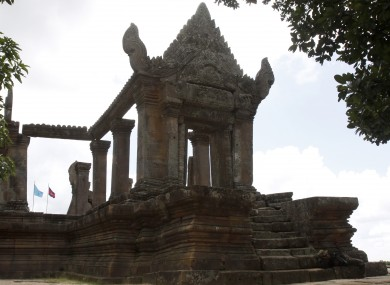 The Preah Vihear temple, over which Cambodia and Thailand both claim jurisdiction.