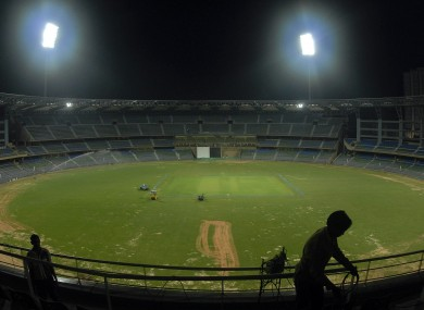 The Wankhede Stadium in Mumbai, India