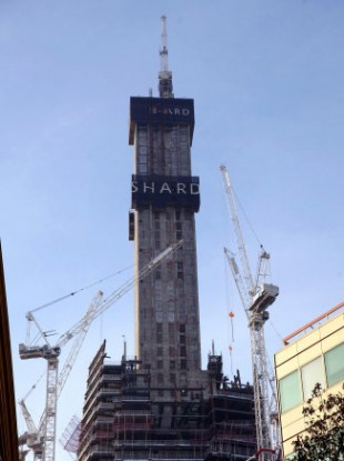 The Shard building, where Romeo the fox lived for two weeks.
