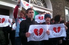 "Irish language students protest at being ""dumped"" by Fine Gael"