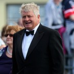 Denis O'Brien attends the wedding of Andrea Corr and Brett Desmond, son of Dermot Desmond taking place in St.Joseph's Church in Miltown Malbay Co Clare.  Friday August 21, 2009.