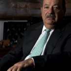 Telecom businessman Carlos Slim Helu poses in Mexico City.