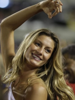 Gisele Bundchen at a carnival in Rio 