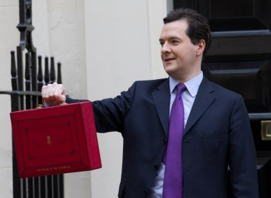 0: the number of red iPads wielded by George Osborne today. (Sorry, Guido.)