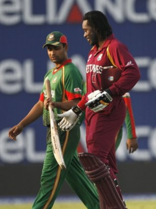 West Indies batsman Chris Gayle tweeted about the attack from the floor of the bus