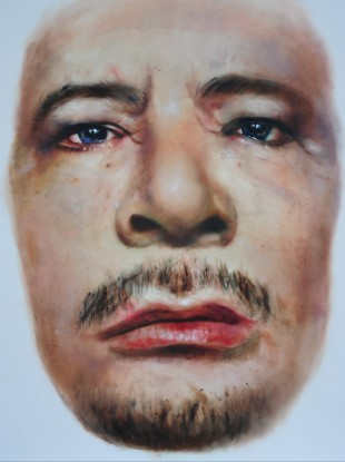 Libyan leader Muammar Gaddafi, as seen through the eyes of Swedish-born artist Johan Andersson: 