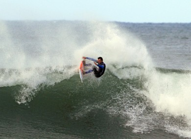 Aussie star Joel Parkinson competes in the Rip Curl Pro surfing event at Bells Beach in Victoria, Australia.