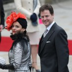 Nick Clegg and his wife Miriam Gonzalez Durantez.