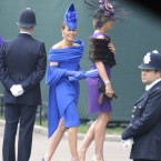Tara Palmer-Tomkinson sails into Westminster Abbey.