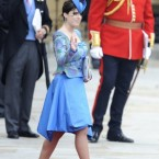 Princess Eugenie, not to be outdone by her sister's headgear.