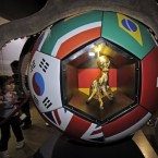 The remains of World Cup match predicting octopus Paul are exhibited in a golden urn at the aquarium in Oberhausen, Germany.