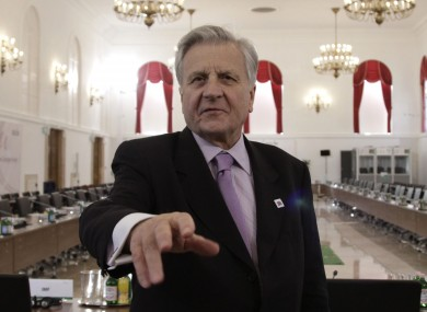 ECB president Jean-Claude Trichet stopped short of using his