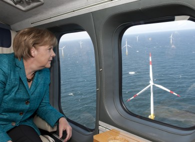 Merkel's government will now look at alternative energy sources - such as wind power.