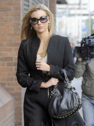Rosanna Davison photographed leaving the High Court on 20 May 2011.