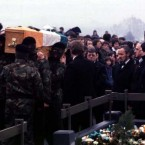 IRA pallbearers at the Bobby Sands funeral in Milltown cemetery, 1981. Pic: Photocall Ireland