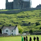 Advancing across the field at the Rock of Cashel today. (Pic: Maxwells)