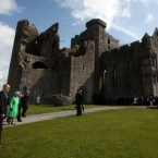 Queen Elizabeth II and Prince Philip arrive to tour the Rock of Cashel. (Pic: Maxwells)