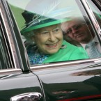 Queen Elizabeth II departs the Rock of Cashel. (Pic: Paul Faith/PA Wire/Press Association Images)