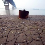A severe drought in southeast China has lowered water levels in the Yangtze River as low as 10ft. (Hu guolin/AP/Press Association Images)