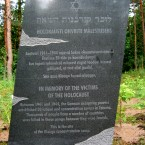 A Holocaust memorial in Estonia, where Mikhail Gorshkow is suspected of the murder of Jews. He worked as an interpreter in the Gestapo. 