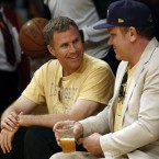 Comedy actors Will Ferrell and John C Reilly are regulars at the Staple Centre.
