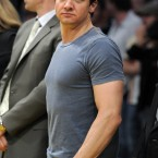 The Town and The Hurt Locker actor Jeremy Renner on the sideline.