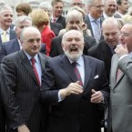'Father' of the Seanad, David Norris, thanks the press at the photocall