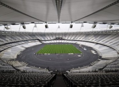 The London 2012 Olympic Stadium.