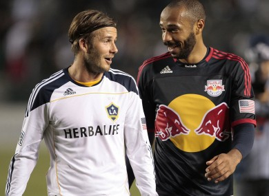 David Beckham and Thierry Henry: 'Although Major League Soccer is on the rise, its not even the fairest reflection of how strong the game is here'.