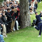 Luke Donald during the fourth round of the the BMW PGA Championship at Wentworth Golf Club, Surrey.