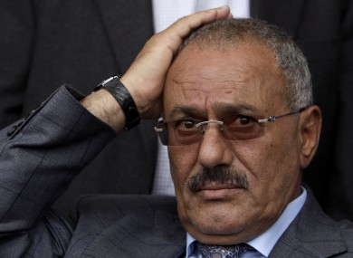 Ali Abdullah Saleh in April.