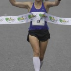 Catriona Jennings wins the Flora womens mini Marathon for Charities in Dublin.