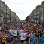 40,000 runners take part in the Flora womens mini Marathon for Charities in Dublin.