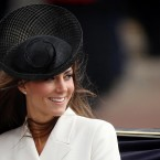 The Duchess of Cambridge returns to Buckingham Palace, London, after attending Trooping the Colour. 