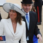 Carole and Michael Middleton, parents of the Duchess of Cambridge, attend the annual Trooping the Colour ceremony.