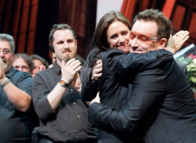 Reunited: Julie Taymor and Bono after last night's opening performance.