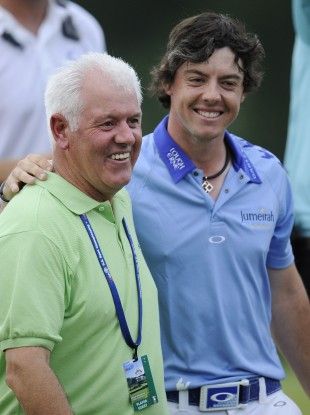 Gerry McIlroy with his son Rory.