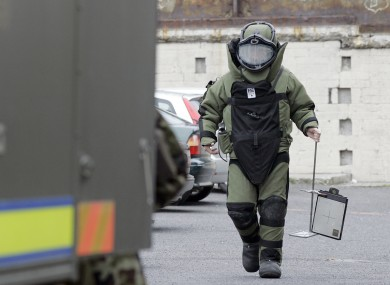 File photo of a member of the army bomb disposal unit