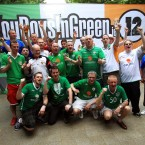Ireland supporters soak up the pre-match atmosphere in Skojpe, Macedonia.