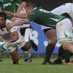 South Africa's Piter Rademan in action against Ireland in the Junior World Championships.