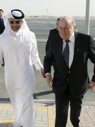Power struggle: bin Hammam and his nemsis, Sepp Blatter