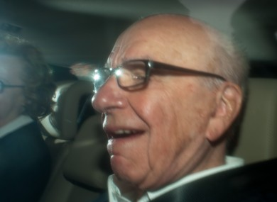 Rupert Murdoch pictured in London on Wednesday