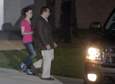 Casey Anthony is accompanied by her solicitor Jose Baez as she walks free for the first time in three years.
