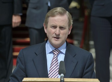 An Taoiseach Enda Kenny speaks to the media following the launch of the Strategy for the International Financial Services Industry in Ireland 2011- 2016 at Government Buildings