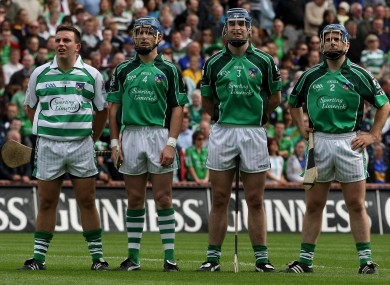 Mark O'Riordan (centre left) and Stephen Lucey (centre right) will be available to lineup for Limerick footballers on Sunday. 