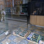 This was a sandwich bar near the LUAS stop in Abbey Street which was suddenly closed some months ago. In this it looks like the day's bread delivery arrived and someone said, 