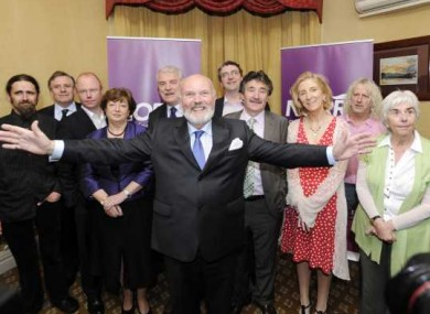 David Norris with some of the supporters who said they would nominate him for the presidential race on 21 July.